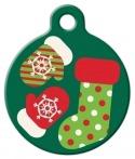 image: Stocking Stuffer Lupine Pattern Pet ID Tag