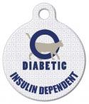 image: Diabetic Alert Cat Medical ID Tag