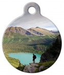 image: Glacier National Park Hiker Pet ID Tag