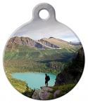 image: Glacier National Park Hiker Pet ID Tag