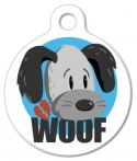 """image: Scooter """"Woof"""" Dog Collar Tag"""