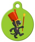 image: Drum Major Boots Cat ID Tag