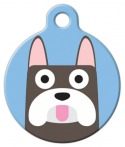image: French Bulldog Boy Custom ID Tag