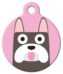 image: French Bulldog Girl Custom ID Tag