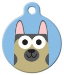 German Shepherd Boy ID Tag