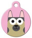 image: German Shepherd Girl ID Tag