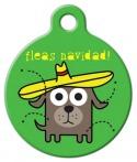 image: Fleas Navidad! Dog ID Tag