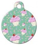 image: Cupcake Confetti on Mint Pet ID Tag