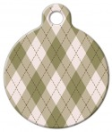 Argyle Brown Pet Name Tag