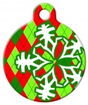 Argyle Christmas Pet ID Tag