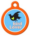 Bird Lover Pet ID Tag