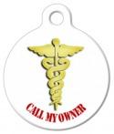 Medical Dog Tag Caduceus