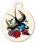 image: Classic Sparrow Tattoo Pet Tag