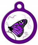 Dance of the Monarch Pet ID Tag