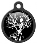 Gothic Winter Skeleton Dog ID Tag
