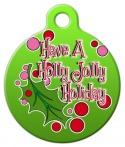 Holly Jolly Holiday Pet ID Tag