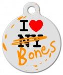 I Love Both NY and Bones Pet Tag
