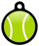 My Tennis Ball Pet Tag