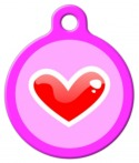 Red Heart Pet ID Tag
