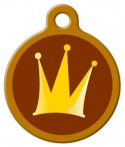image: The Crown Pet ID Tag