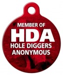Hole Diggers Anonymous Dog ID Tag