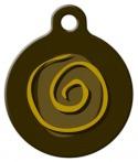 image: Mustard Swirl Pet Tag