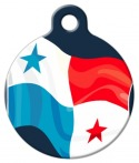 Panama Flag Pet ID Tag