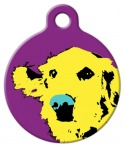 Warhol inspired dog tag of a Golden Retriever
