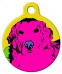 Warhol inspired Golden Retriever Dog Tag