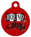 Retro Hound Dog ID Tag