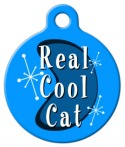 Retro Real Cool Cat ID Tag