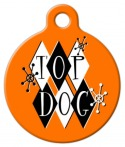 Retro Top Dog Pet ID Tag