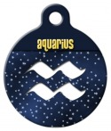 Aquarius Symbol Pet ID Tag