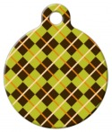 Argyle Dog Tag