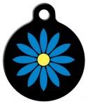 image: Blue Flower Pet ID Tag