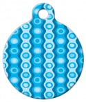 image: Blue Polyester Pattern Dog ID Tag
