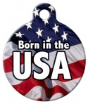 Image: Born in the USA Dog ID Tag