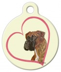 Image: Boxer Heart Dog Pet Identification Tag