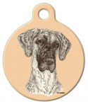 Image: Brindle Great Dane Dog ID Tag