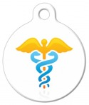 image: Gold Caduceus Medical Dog Tag