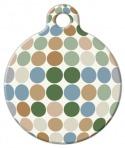 image: Pastel Dots Pet ID Tag