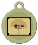 image: Craftsman Style Hello Pet ID Tag