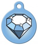 Image: Big Diamond Dog ID Tag