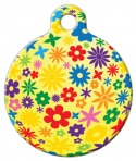 Image: Yellow Flowery Pet Tag