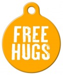 Image: Free Hugs Pet Tag