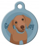 Image: Good Boy Dachshund Dog ID Tag