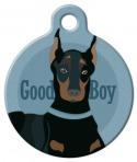 image: Good Boy - Doberman or Miniature Pinscher Pet ID Tag