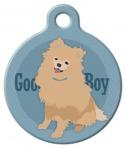 Good Boy Pomeranian Dog ID Tag