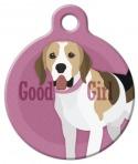 Image: Good Girl Beagle Dog ID Tag