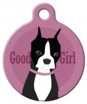 image: Good Girl - Boston Terrier Pet ID Tag
